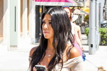 Kourtney Kardashian Kourtney Kardashian Sports Chic Leather Pants