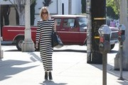 Kristin Cavallari Strolls in Stripes