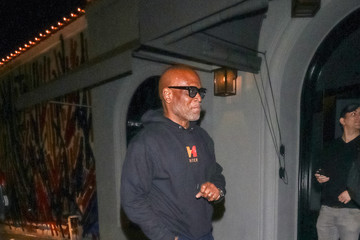 L.A. Reid Jimmie Lee Outside Craig's Restaurant In West Hollywood