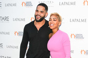 Dijon Talton and Meagan Good are seen attending Lapalme Magazine's Party for Cover Stars Anthony Anderson and Meagan Good at the Sofitel Hotel in Los Angeles, California.