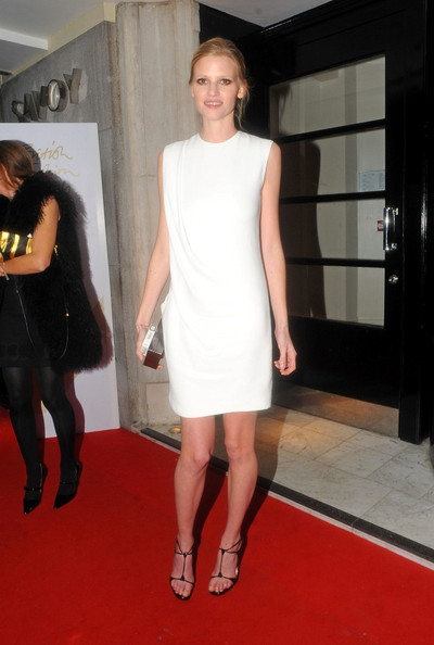Lara Stone British Fashion Awards 2010 at The Savoy Theatre.