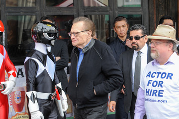 Larry King Haim Saban Hollywood Star Ceremony Candid