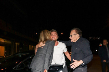 Larry King Shawn King Lance Bass Is Seen Outside Craig's Restaurant