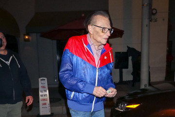 Larry King Larry King Is Seen Outside Craig's Restaurant In West Hollywood