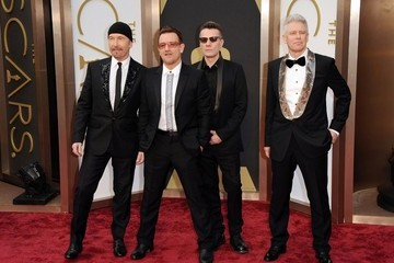 Larry Mullen Jr Arrivals at the 86th Annual Academy Awards