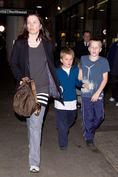 Photo of Lucy Lawless & her Son  Julius Robert Bay Tapert
