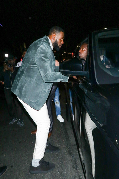 LeBron James Outside Kevin Hart's Birthday Party At TAO In Hollywood