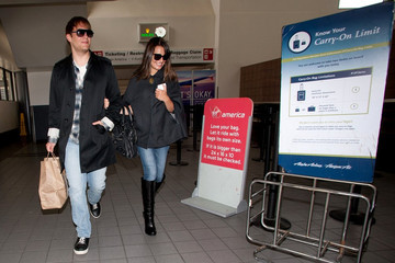 Theo Stockman Lea Michele and Theo Stockman at LAX