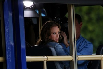 Leah Remini Celebs Visit the Set of 'Extra'