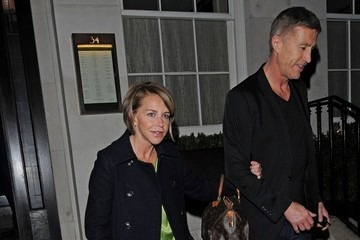 Lee Chapman Leslie Ash and Lee Chapman Out to Dinner