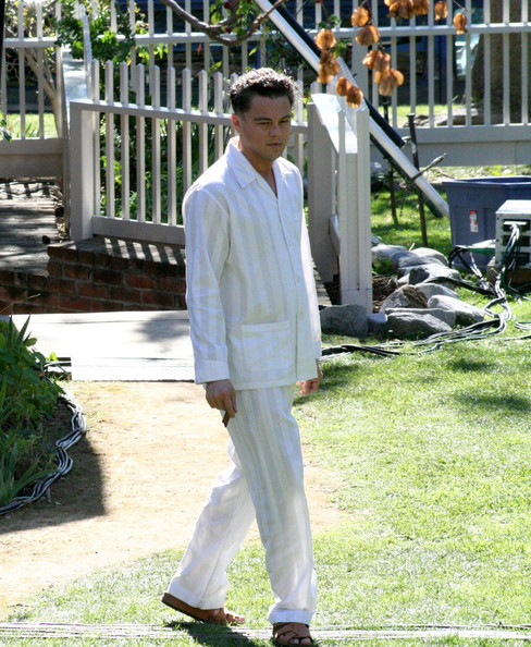 "Leonardo Dicaprio films scenes for his latest movie ""J. EDGAR"" based on the FBI chief, J. Edgar Hoover."