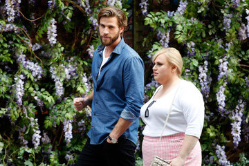 Liam Hemsworth Liam Hemsworth and Rebel Wilson on the Set of 'Isn't It Romantic'