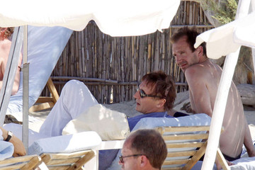 Ralph Fiennes Liam Neeson Liam and Ralph soak up the sun