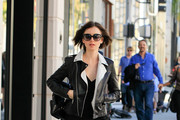 Lily Collins Shops on Rodeo Drive