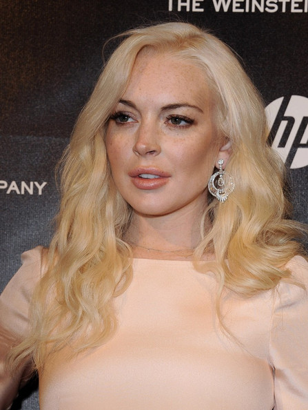 Lindsay Lohan - The Weinstein Company 2012 Golden Globes Party