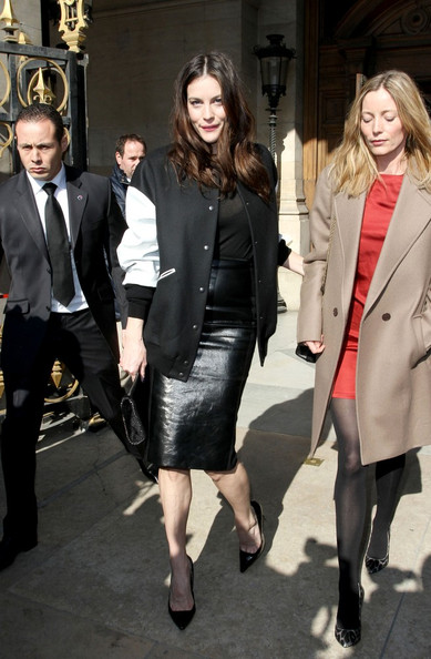 Liv Tyler Arrivals for the Stella McCartney Ready-To-Wear Fall/Winter 2011-2012 fashion show held at the Palais Garnier.