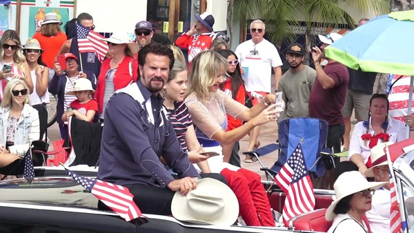 Lorenzo Lamas Attends A Fourth of July Parade