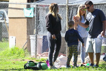 Luca Comrie Hilary Duff Rocks a Casual Look