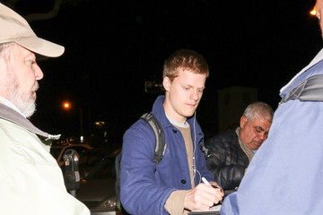 Lucas Hedges Lucas Hedges Outside Craig's Restaurant In West Hollywood