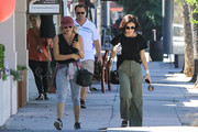 Lucy Hale Enjoys An Afternoon With A Friend