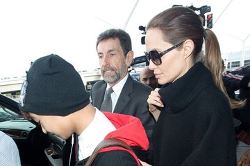 Maddox Jolie-Pitt Angelina Jolie Guides Her Family Through LAX — Part 2