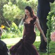 Madeleine Stowe Emily VanCamp Films a Wedding Scene