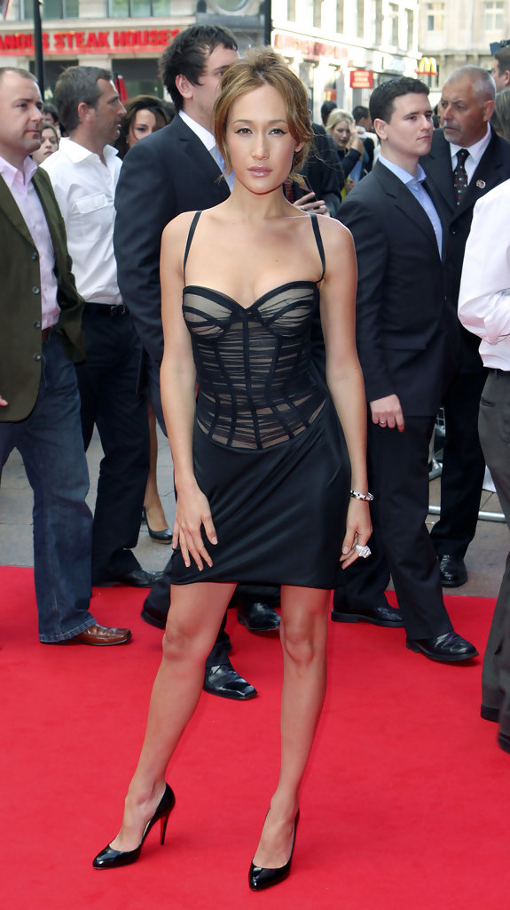 maggie q photos uk premiere of die hard 40 at the