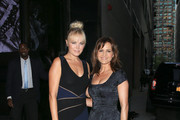 Malin Akerman and Carla Gugino are seen out together during NYFW on September 13, 2016.