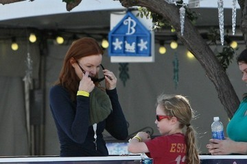 Marcia Cross Marcia Cross Goes Ice Skating with Her Family