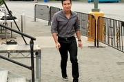 Mario Lopez at Work on 'Extra'