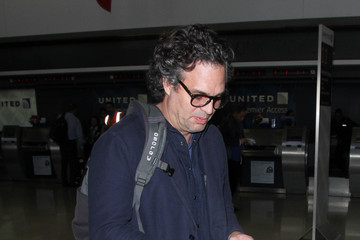 Mark Ruffalo Mark Ruffalo and Sunrise Coigney Spotted at LAX