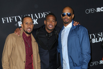 Marlon Wayans Celebrities Attend the 'Fifty Shades of Black Premiere'