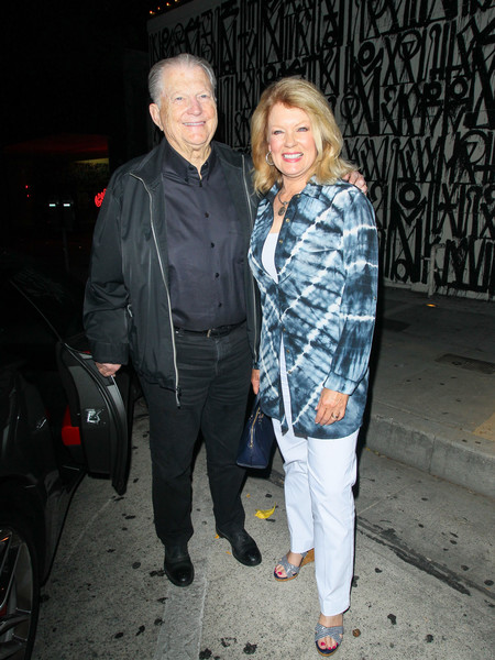 Mary Hart with her Husband Burt Sugarman outside Craig's Restaurant in Beverly Hills