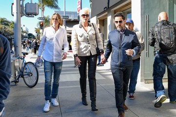 Mattia Dessi Brigitte Nielsen Goes Out For Lunch With Her Husband