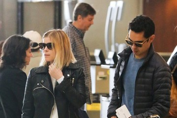 Max Minghella Kate Mara and Max Minghella at LAX