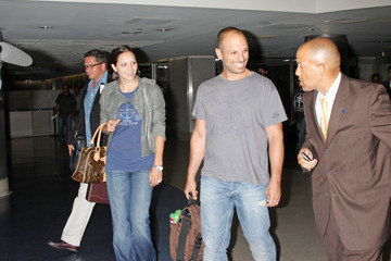 Nick Cokas Katharine McPhee and Her Husband at LAX