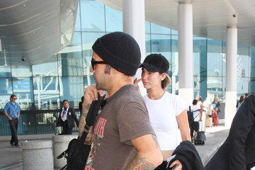 Meagan Camper Pete Wentz and Meagan Camper Are Seen at LAX