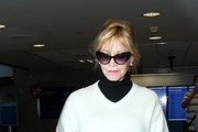 Melanie Griffith Arrives at LAX