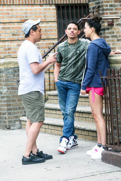 Melissa Barrera On The Set Of 'In the Heights'