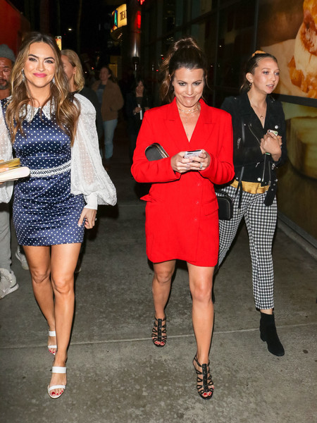 Chrishell Hartley and Melissa Claire Egan outside The Hustle Premiere at ArcLight Theatre