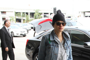 Melonie Diaz Melonie Diaz Arrives at LAX