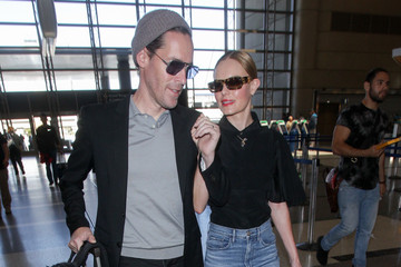 Michael Polish Michael Polish And Kate Bosworth At LAX