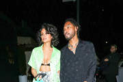 Miguel and Nazanin Mandi are seen in Los Angeles, California.