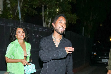 Miguel Nazanin Mandi Miguel And Nazanin Mandi Outside The Nice Guy Nightclub In West Hollywood