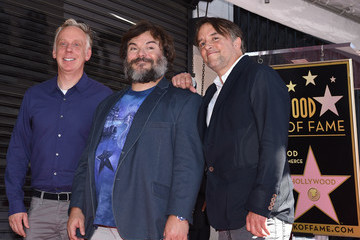 Mike White Jack Black Is Honored On The Hollywood Walk of Fame