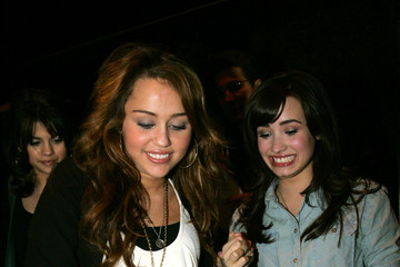 Miley Cyrus Demi Lovato Miley Cyrus, Justin Gaston and Frinds at Koi