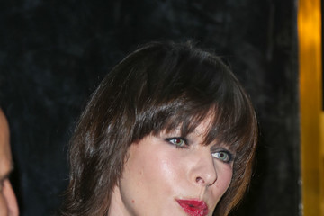Milla Jovovich Celebrities Are Seen Outside What Goes Around Comes Around in Beverly Hills