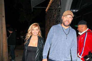 Mindy Robinson Randy Couture Outside Craig's Restaurant in West Hollywood