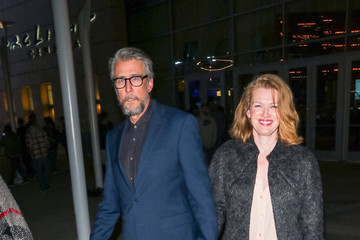 Mireille Enos Alan Ruck Outside The ArcLight Theatre In Hollywood