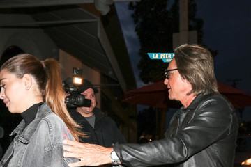 Mohamed Hadid Mohamed Hadid And Shiva Safai Outside Craig's Restaurant In West Hollywood